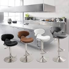 Adjustable Bar Stools Matrix Ecco Brushed Stainless Steel Adjustable Height Swivel Bar