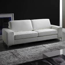 canapé 3 places cuir blanc cuir blanc
