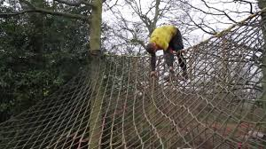 how to climb and flip over an a frame cargo net youtube