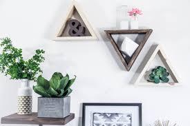 Triangle Wall Shelf Triangle Shelf Trio