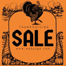 customizable design templates for thanksgiving sale postermywall