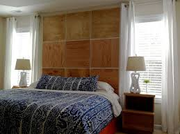 bedroom alluring wooden headboard ideas with square shape also