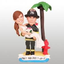 fireman wedding cake toppers firefighter and dogs wedding cake toppers