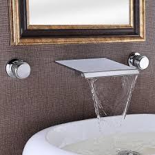 Wall Mounted Bathroom Faucet Waterfall Wall Mounted Bathroom Faucet