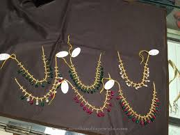 gold short chain necklace images Gold short beaded necklace south india jewels jpg