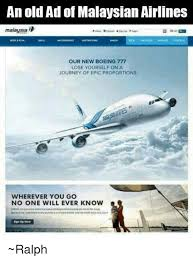 Malaysia Airlines Meme - an old ad of malaysian airlines malaysia our new boeing 777 lose