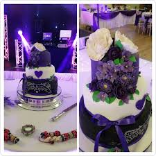my wife made this 3 tier victoria sponge wedding cake in black