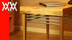Build A End Table by Build A Wood And Steel End Table Youtube