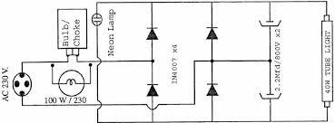 choke circuit to run broken filament 40watt tubelights my useful