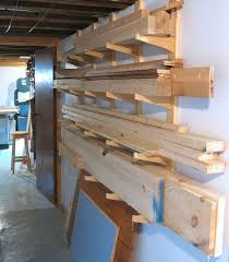 Basement Storage Shelves Woodworking Plans by Best 25 Lumber Storage Rack Ideas On Pinterest Wood Storage