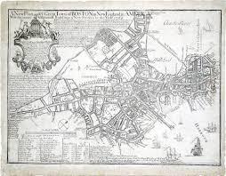 Map Boston Bonner John 1643 1726 And Price William Circa 1685 1771 A
