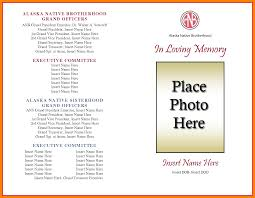 sle memorial programs generous free printable obituary template images documentation