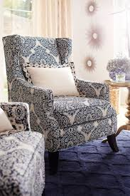 Blue Wingback Chair Design Ideas Decorative Single Chairs For Living Room Decoration