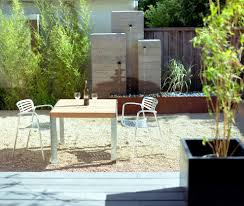 brick water feature patio modern with fountain san francisco
