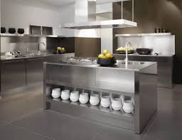 Kitchen Cabinet Stainless Steel Kitchen Modern Stainless Steel Kitchen Cabinet And Island With