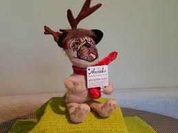 annalee christmas bulldog from america 6 cotton u0026 felt 25