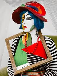 Extreme Halloween Costumes Picasso Painting Portrait Extreme Lengths