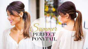 summer perfect ponytail youtube