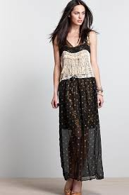 black u0026 gold polka dot maxi dress anthropologie