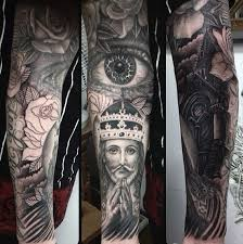 75 religious sleeve tattoos for spirit designs