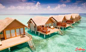 paradise island maldives water bungalows bungalow santa monica