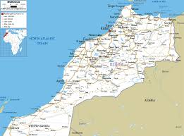 World Map With Cities by Large Road Map Of Morocco With Cities And Airports Morocco