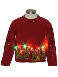 Ugly Christmas Sweater With Lights Light Up Ugly Christmas Sweaters At Rustyzipper Com Twinkle Led