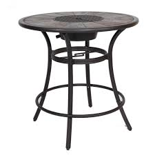Patio Table With Umbrella Coffe Table Inch Round Conversation Table Outdoor Coffee With