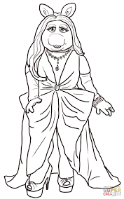 miss piggy coloring page free printable coloring pages