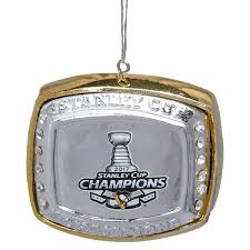 pittsburgh penguins 2017 stanley cup chions ring ornament