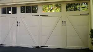 Clopay Overhead Doors Exterior White Wood Clopay Garage Doors With Glass Transom Window