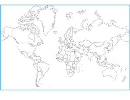 Outline Map Of The World by