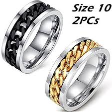 cool wedding rings images Father 39 s day gifts men 39 s spinner rings with spinning chain in jpg