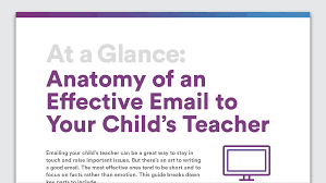 emailing teachers about your child anatomy of an effective email