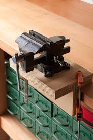 how to install and mount a vise without drilling holes in your