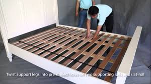 Slat Frame Bed For Bed Assembly And Slat Roll Attachment For Nz