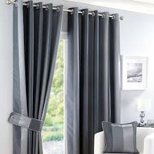 Pewter Curtains Monaco Pewter Lined Eyelet Curtains Dunelm