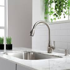 Kitchen Faucets And Sinks Kraus Kpf 2230sn Single Lever Pull Out Kitchen Faucet Satin Nickel