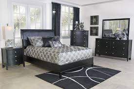 Black Furniture Bedroom The Diamond King Bed Mor Furniture For Less
