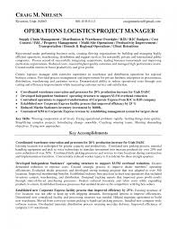 Operations Manager Resume Logistics Manager Resume Splixioo