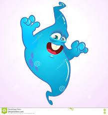cartoon blue ghost halloween vector blue ghost stock vector