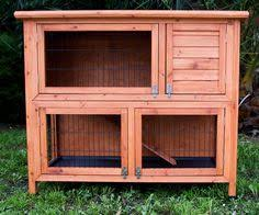 Double Decker Rabbit Hutch Rabbit Hutch Guinea Pig Hutches Run Runs Large 2 Tier Double