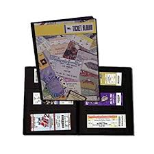 ticket stub album sports ticket album