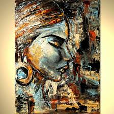 handmade abstract art african women portrait oil paintings for