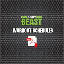 printable body beast schedule zillafitness