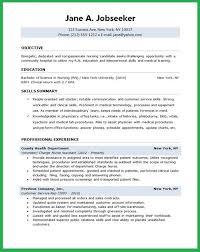 student nurse resume objective samples entry level nursing