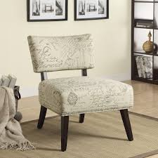 French Script Armchair Amazon Com Coaster Home Furnishings 902114 French Script Linen