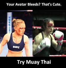 Muay Thai Memes - celebrating the female face bloody face photos from female
