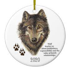 wolf ornaments keepsake ornaments zazzle