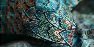 Peacock Feather Comforter Set 7pcs Blue Green Peacock Feather Print Silk Bedding Sets California